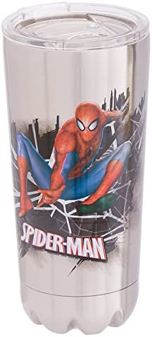 24 oz Tervis 1319386 Marvel Man Spider Web Stainless Steel Insulated Tumbler with Lid Silver