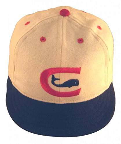 Ideal Cap Co. Chicago Whales Vintage Baseball Cap 1976 8 White/Navy/Red (Ideal Cap Company compare prices)