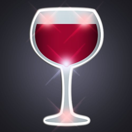 Led Flashing Pins (Light Up Wine Glass Flashing Blinking LED Body Light Lapel Pins)