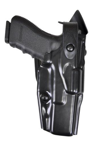 Safariland 6360 Level III ALS Retention Duty Mid Ride Holster, STX Black Hi-Gloss, S&W M&P 9, 40 (Right Hand)