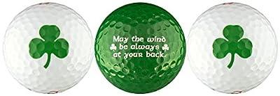 Shamrock w/ Irish Blessing Golf Ball Gift Set