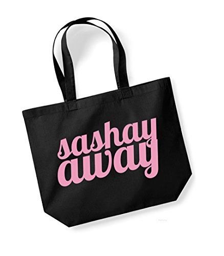 Fun Vs Bag Large Sided Stay Sashay Black Away Canvas Shante Double Tote Slogan You pink C7BWzqWH