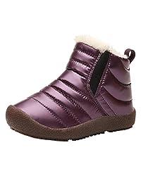 HIKO23-Women's Snow Boots Winter Ankle Short Bootie Waterproof Footwear Warm Shoes