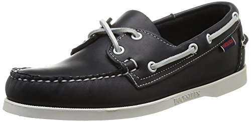 (Sebago Men's Dockside Leather Casual Boat Deck Shoes Blue Nite, 7 W)