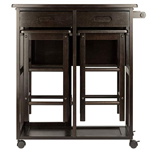 Winsome Wood 23330 Suzanne 3-PC Set Space Saver Kitchen, Smoke by Winsome Wood (Image #7)