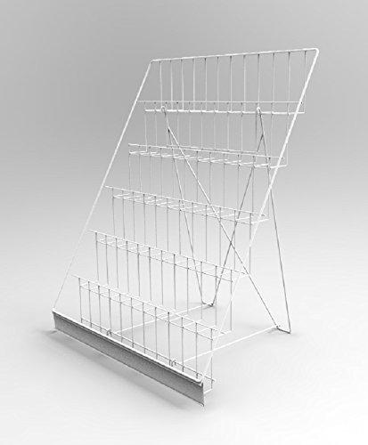 FixtureDisplays 6-Tiered Wire Display Rack for Tabletops, 2.5