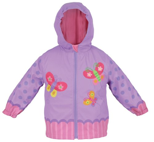 Stephen Joseph Little Girls'  Butterfly Rain Coat