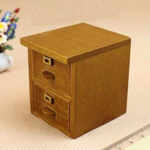 Brosco 1:12 Scale Mini Furniture Cabinet Dollhouse Miniature Re-Ment Fairy Doll Home ☆ ()