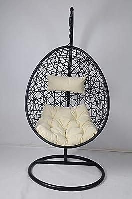 Cocoon Silla colgante tipo caparazón con cojín: Amazon.es: Jardín