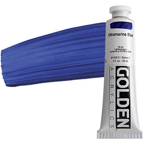 Golden Heavy Body Acrylic Paint, 2-Ounce, Ultramarine Blue (GLDNHB-14002)