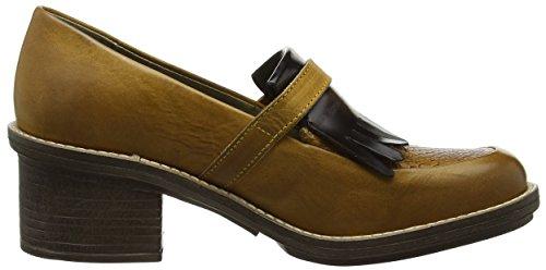 Chad878 004 Mustard Marron FLY Brown London Femme Escarpins P5q0Tgw0
