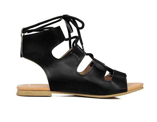 41 1CM Romaines Quotidien Sandales 34 PU Femme Confortable Shopping Bretelles Sandales xie TUzAnPz