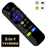 IKU-P81 2-in-1 Universal IR Remote Compatible with ROKU Express Premiere w/TV Power + Vol+/-/Mute + Learning Function 【NOT for ROKU Stick & Built-in ROKU TV】