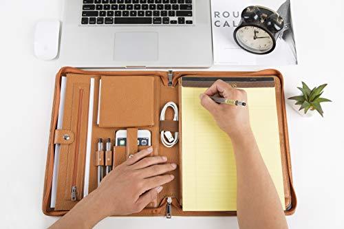 6018019f062f Genuine Leather iPad Portfolio Case Professional Office Organizer ...