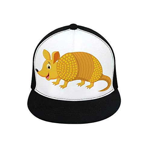Uclipers Cute Armadillo Cartoon Baseball Cap All Cotton Made Adjustable Fits Men Women Low Profile Black Hat]()