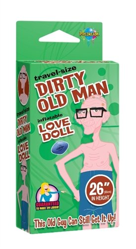 Pipedream Travel Size Dirty Old Man Love Inflatable Love Doll