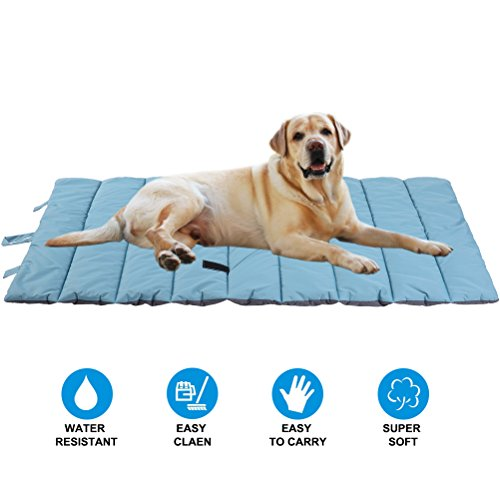 PUPTECK Waterproof Pet Bed Mats Cover for Cat & Dog Outdoor Cooling Blue Large by PUPTECK