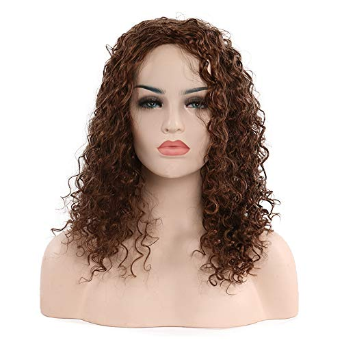 BJGXFMQ Curly Wigs for Black Woman Short Wave Bob Wigs Natural Hair Synthetic Heat Resistant Wig -