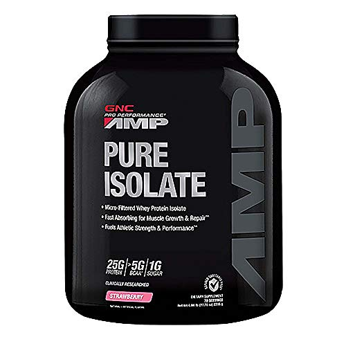 GNC Pro Performance AMP Pure Isolate Whey Protein - Strawberry 4.86 lbs.