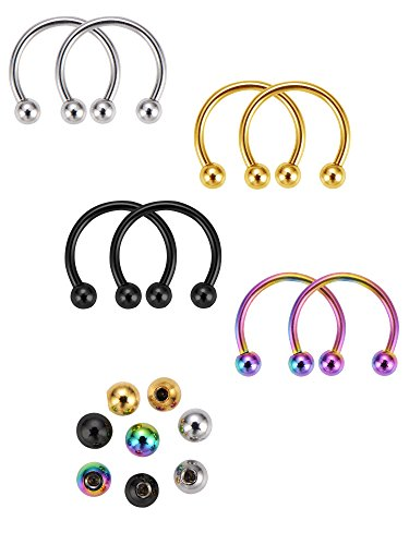 Mudder Horseshoe Replacement Multi functional Piercing