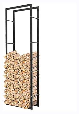 "K&A Company Log Rack & Carrier, Firewood Rack Rectangular 59.1"""