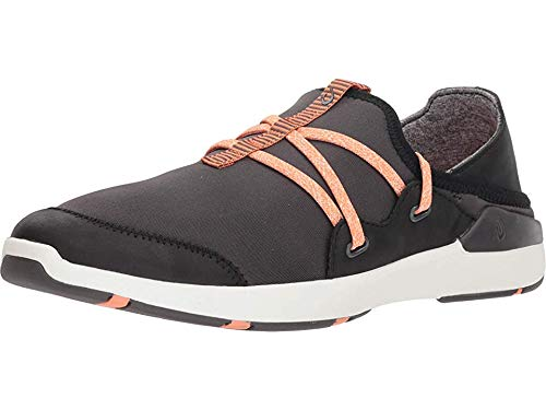 OLUKAI New Women's Miki Li' Slip On Sneaker Pavement/Black 9