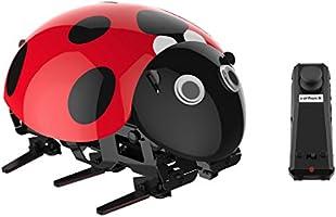 Virhuck DIY RC Mariquita, Bionic Insect Toy para Niños, 2.4Ghz, Sensor Inteligente, Modo Remoto / Touch / Automático, 3.7V 380mAh Batería Recargable, hasta 30 minutos de Tiempo de Juego, 1 hora de Tiempo de Carga, Coche DIY RC para Niños y Adultos