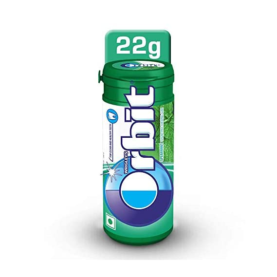 Wrigley's Orbit Sugar-Free Chewing Gum, Spearmint, 22g