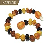 Hazelaid (TM) 5.5'' Twist-Clasp Baltic Amber Multicolored Semi-Polish Bracelet