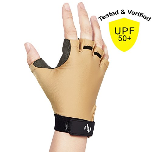 Leather Gloves Without Fingers - 8
