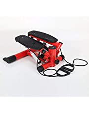 Drawstring Mini Foot Machine Home Mute Stepper Multifunctional Hydraulic Twisting Machine Portable Lower Limb Trainer Can Bear About 200kg (Color : Red)