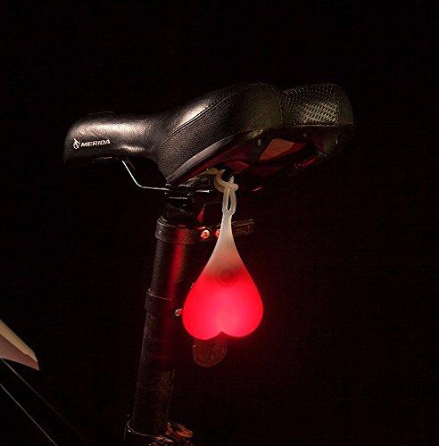 DELOMO Bike Tail Light, Bike Rear Light Waterproof Warning Taillight Bicycle LED Night Light (Red) (Powered Squeeze Flashlight)
