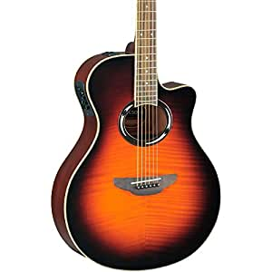 yamaha apx500iifm thinline acoustic electric guitar flame maple old violin. Black Bedroom Furniture Sets. Home Design Ideas