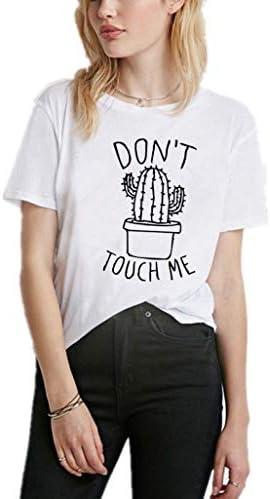 Luckycat Mujeres Camisetas Cactus y Letras Impresas T Shirt Elegante Manga Corta Túnica Casual Suelto Blusas Camisas Tops: Amazon.es: Ropa y accesorios