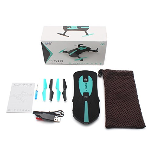 Yuly Newest JY018 Mini Drone Foldable WiFi HD FPV 0.3MP Camera Quadcopter Selfie RC Drones
