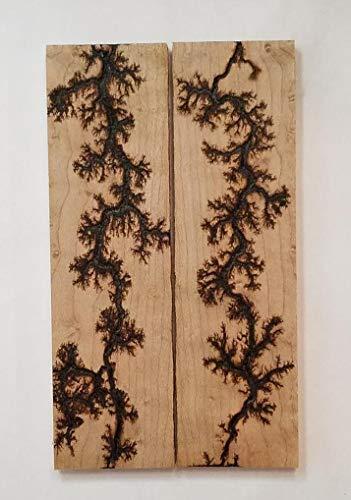 Fractal Burned Wood Knife Scales - Handle Material - Knife Making - Payne Bros (AP) ()
