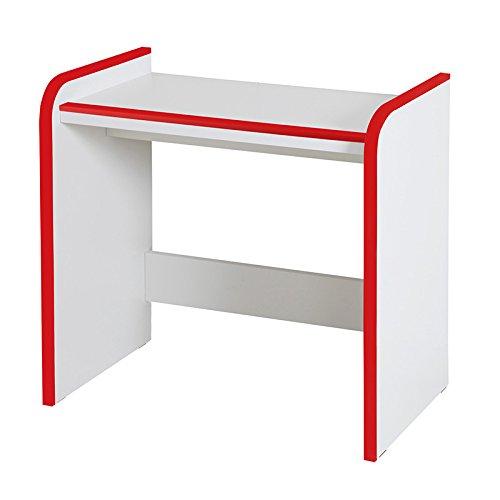子供用 机 デスク ハイタイプ 幅63cm クッション素材 完成品 B01N37WP54 レッド赤 レッド赤