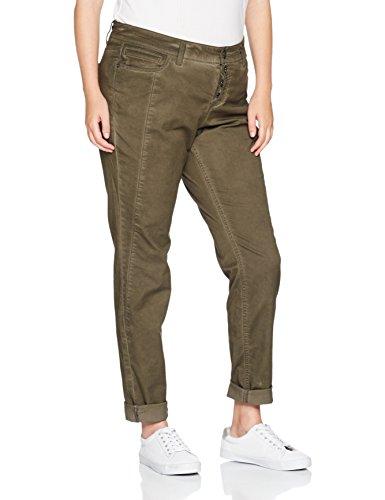 Para Khaki Triangle smooth Mujer Pantalones 7943 Verde Xqn5Zq