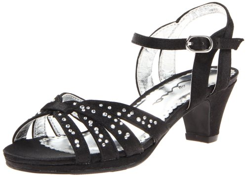 Nina Wendy Sandal (Toddler/Little Kid/Big Kid) Black Satin