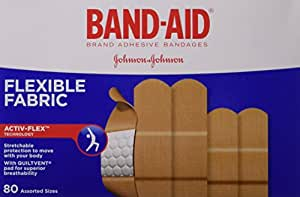 Band-Aid Flexible Fabric Assorted Adhesive Bandages Value Pack