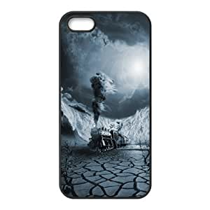 For SamSung Galaxy S5 Phone Case Cover Mens Designer Midnight Train For SamSung Galaxy S5 Phone Case Cover {Black}