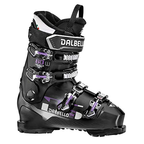 Dalbello DS MX 80 W Womens Ski Boots 2020-25.5/Black-Black (Dalbello Ski Boots Women)