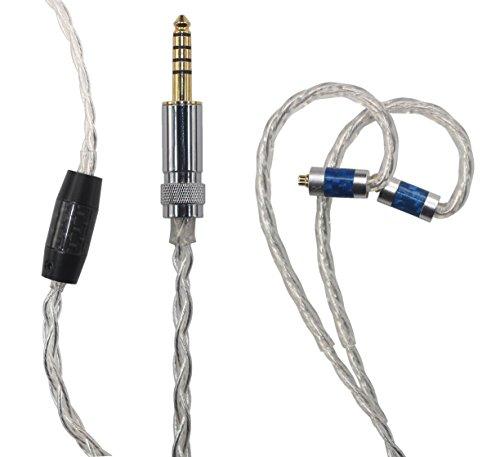 Everest Iii Cd (BA-D1 WM1A/1Z, NW-ZX300A, PHA-2A 4.4MM Male Balanced to MMCX Connection (Shure SE215, SE315, SE425, SE535, SE846, UE900 etc. headphones.) Replacement Earphone Cable. BA-D1 (1.2M/3.9ft))