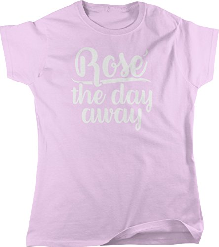 NOFO Clothing Co Rose The Day Away Women's T-Shirt, L (Zinfandel Cheese)