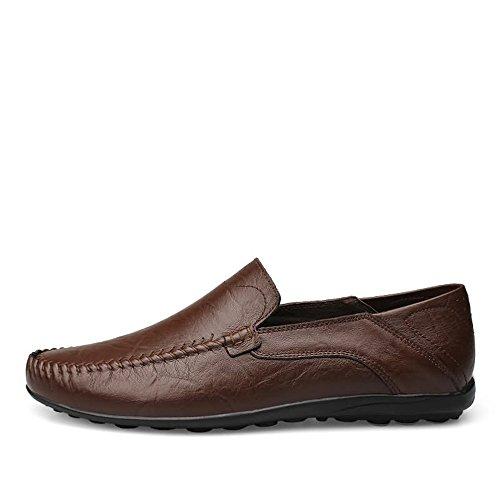 Marron y Hombres Color de cómodos shoes Mocasines los Los Deslizan los Antideslizantes Zapatos tamaño 47 de Los Estilo Meimei liviano Oscuro Mocasines se Sobre liviano EU qfw1XwU