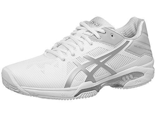 ASICS Women's Gel-Solution Speed 3 - Clay White/Silver 7.5 B US