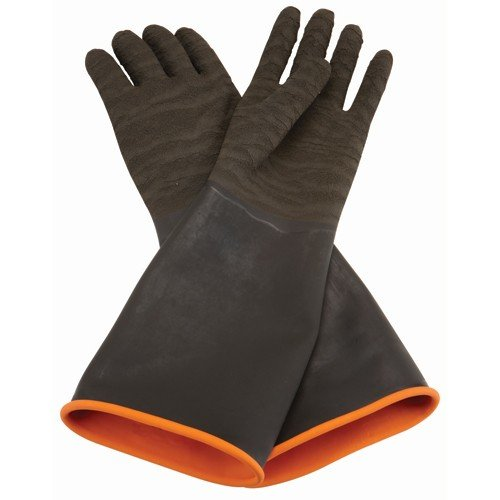 New Pair of Tough Rubberized Construction for Protection against Abrasive Blasting Long Cuff Rubber Coated Blasting Gloves Safety Power