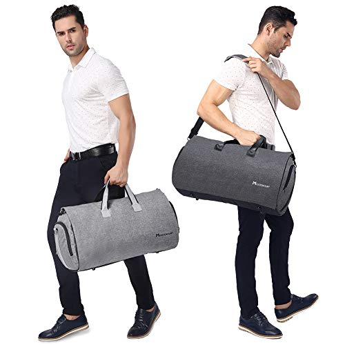 1d4254870 Convertible Garment Bag with Shoulder Strap, Modoker Carry on Garment  Duffel Bag for Men Women - 2 in 1 Hanging Suitcase Suit Travel Bags  (Black): ...