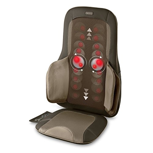HoMedics Air Compression + Shiatsu Massage Cushion with Heat - MCS-775H - Melts Away Muscle Tension