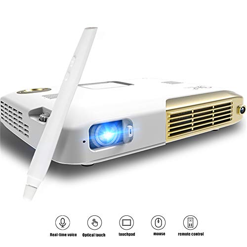 ALPEG Mini Projector,Support 3D Modeling Painting,Portable Pocket Video Projector,with Smart Touch Pen,20 ms Touch Response,4K,Intelligent Wireless sync Screen]()